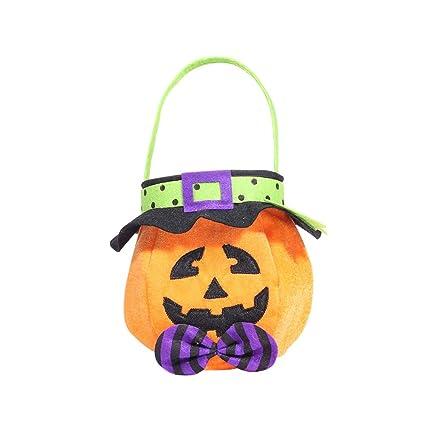 Alivier Halloween Bolsa de Caramelos, Bolsa de Calabaza con ...