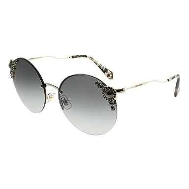 Miu Miu Damen Sonnenbrille 0MU52TS VW7146, Gold (Pale Gold/Pink Grey), 60