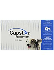 Capstar Flea Tablets for Dogs and Cats, 6 Count, 2-25 lbs, Bl...