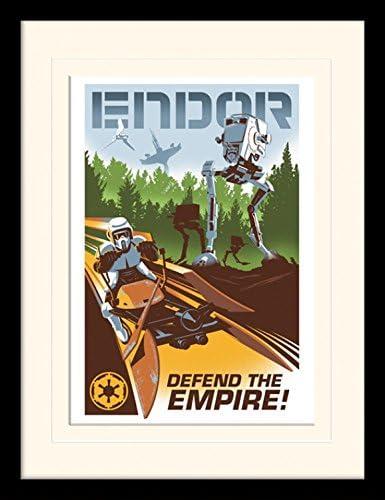1art1/® 107201 Poster encadr/é Star Wars Endor 40 x 30 cm