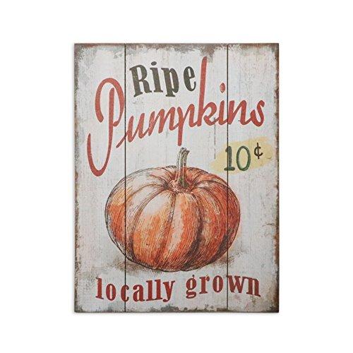 (Tina-R 10 Cent Ripe Pumpkins Locally Grown Retro Vintage Wood Plaque Bar Sign Country Home Decor 12x18 inch)