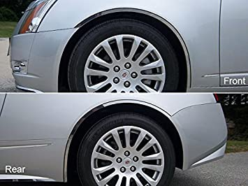 2012 2013 CADY CTS COUPE 6PC STAINLESS STEEL BODY SIDE INSERT TRIM