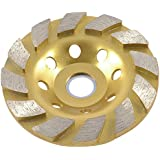 "Stone Concrete Bowl Type Diamond Grinding Wheel Disc 3.9"" Diameter"