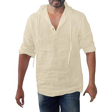 Linkay - Camisa para Hombre de Manga Larga de Verano para Hombre ...