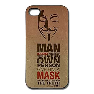 IPhone 4/4s Cases Mask Design Hard Back Cover Shell Desgined By RRG2G