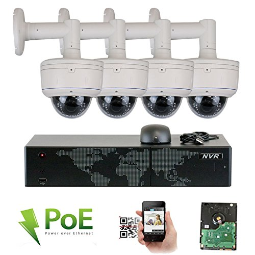 8 Channel 5MP 1920P NVR Network PoE IP Security Camera System – 4 x HD 1920P 2.8~12mm Varifocal Lens IR PoE IP Dome Camera with Wall Bracket + 2TB Hard Drive Review
