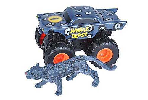 Wild Republic Black Leopard and Truck Adventure playset, Gifts for Kids, Imaginative Play Toy; 2 piece set