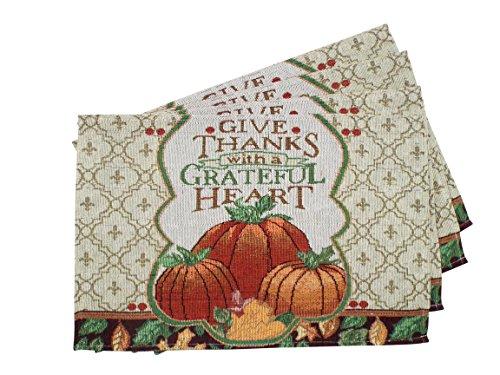 Fall Pumpkin Placemats - Set of 4 -