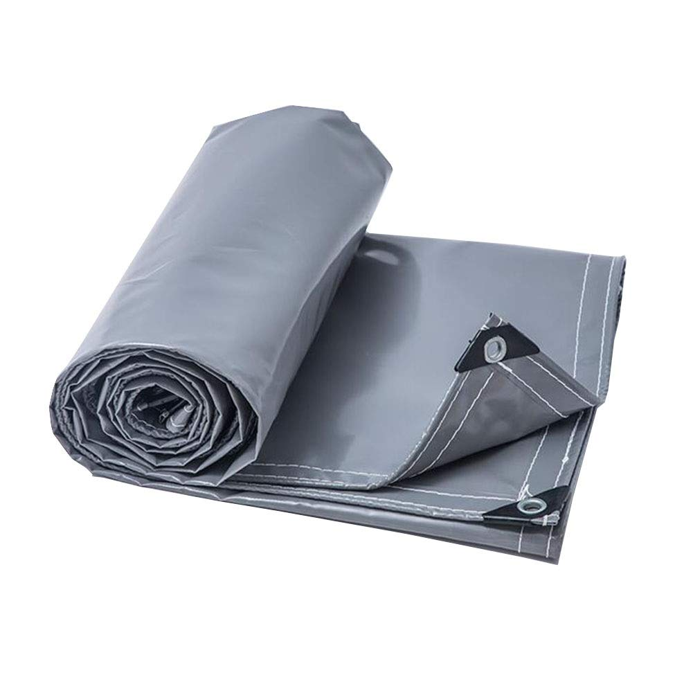 XUERUI シェルター ターポリン オーニング PVC 防水 にとって キャンプのテント、 トラック、 ボートカバー アースシートシート スポーツ アウトドア (Color : Gray, Size : 4x8m) Gray 4x8m