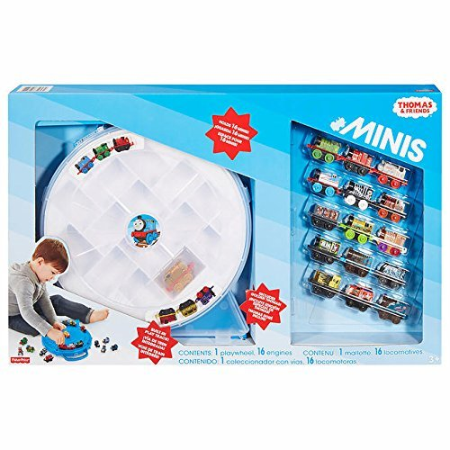 Fisher-Price-Thomas-Friends-Minis-Mega-Set-with-15-Engines-1-Special-Golden-Thomas-Engine-1-Playwheel-Case-Collection-for-Ages-3