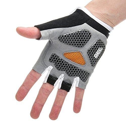 Ezyoutdoor Bike Full Finger Glove Riding Glove Breathable Unisex Reflex Outdoor Cycling Skiing Skateboard Shock Pads by ezyoutdoor (Image #2)