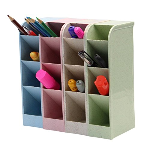Desktop Debris Storage Organizer Box for Office,stationery Pen, Socks, Make up Tools(set of 4) (Socks Crayon)