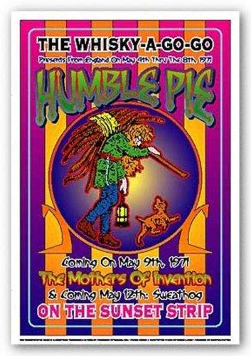 Dennis Loren Humble Pie Whisky-A-Go-Go Los Angeles 1971 Music Poster Print - 14x20 (1971 Poster Print)