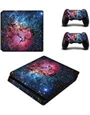 UUShop PS4 Slim Skin Vinyl Decal Cover for Sony PlayStation 4 Slim PS4 Console Sticker Galaxy Starry Sky