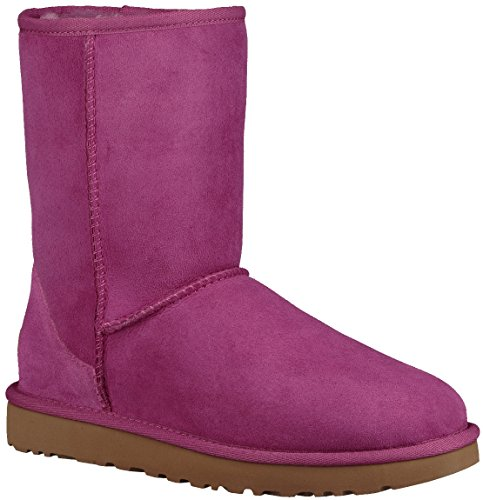 Magenta Short - UGG Women's Classic Short II Fashion Boot, Magenta Rose, 7 M US