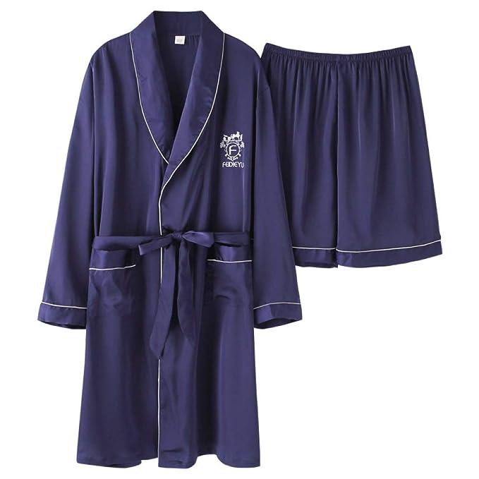 Pijamas Pantalones Cortos para Hombres Bata De Casa ...