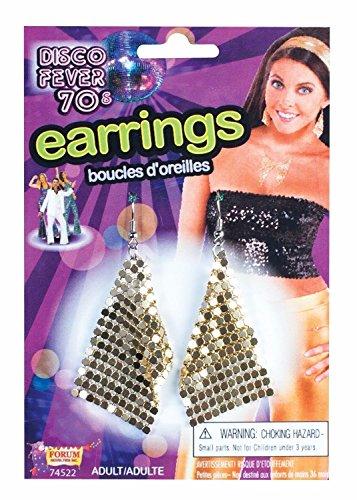 Forum Novelties 70's Gold Diamond Shape Disco Earrings