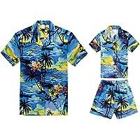 61dc4f86c4f2 Hawaii Hangover Matching Father Son Hawaiian Luau Outfit Men Shirt Boy  Shirt Shorts PW Blue Sunset