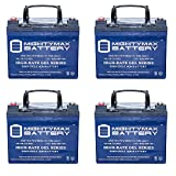 12v deep cycle battery pack - 12V 35Ah GEL Battery Replacement for Kangaroo TG-31 Golf Cart - 4 Pack - Mighty Max Battery brand product