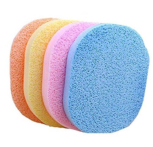 Whyyudan - 6 esponjas de limpieza de celulosa, esponja facial, limpiador de maquillaje, esponja de limpieza facial