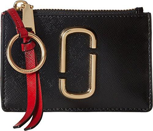 Marc Jacobs Women's Snapshot Top Zip Multi Wallet Black/Chianti One - Brands Top Designer