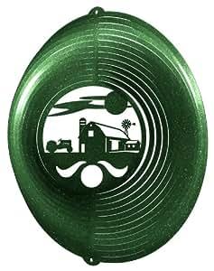 FARM CIRCLE TRACTOR Swirly Metal Wind Spinner