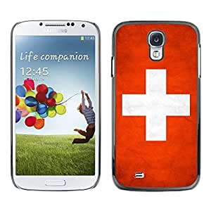 Shell-Star ( National Flag Series-Switzerland ) Snap On Hard Protective Case For Samsung Galaxy S4 IV (I9500 / I9505 / I9505G) / SGH-i337