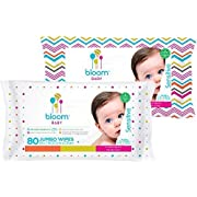bloom BABY Sensitive Skin Unscented Hypoallergenic Baby Wipes, 640-Count