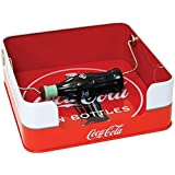 "Coke Napkin Dispenser With Spin Coca-Cola Bottle Clamp - 6.25"" Square Metal"