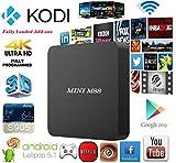 Greatever Mini M8S 4k x 2k Android 5.1 Google Smart TV Box Amlogic S905 Quad Core 1GB DDR3 8GB EMMC Kodi 16.0 Pre-installed HDMI WiFi LAN Smart Streaming Media Player
