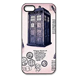 Vintage Doctor Who Police Box Daleks Inspired Hard Plastic Protector Bumper Case Cover for iPhone 5