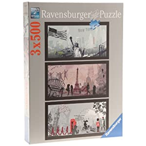 Ravensburger 86281 Nathan Clasic Puzzle Da 3 X 500 Pezzi