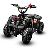 V-Fire Monster 40CC 4-Stroke Kids Four Wheeler Quads for Kids - Gas Powered ATV for Kids with Throttle Regulator and Kill Switch - Runs to up 24mph and Supports up to 140 lbs - ATVs for Kids (Red)