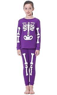 86e6c6b33 Amazon.com  Mud Kingdom Glow in The Dark Kids Skeleton Home Clothes ...