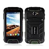 Huadoo V3 IP68 Rugged Smartphone Waterproof Shockproof Dustproof 3G Unlocked Android Dual SIM GPS Navigation(Green)