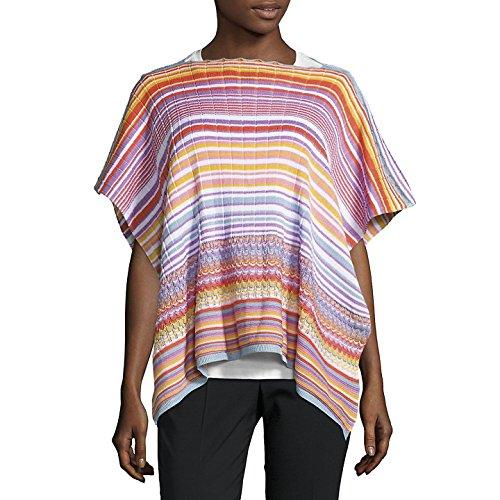Missoni Orange Label Multicolor Knit Cotton Poncho