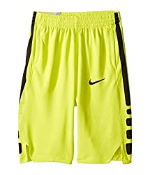 Nike Boy's Dry Basketball Short (Medium, Electrolimeblack)