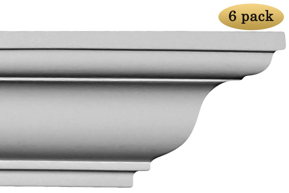 Crown Molding - Polyurethane Crown Moulding Manufactured with a Dense Architectural Polyurethane Compound. Breadth 3''. 6 pcs. Over 47 ft.