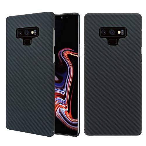 Galaxy Note 9 Case, 0.7mm Ultra Thin Real Aramid Fiber [Real Body Armor Material] Carbon Fiber Pattern Protective Case Cover for Samsung Galaxy Note 9 2018 -