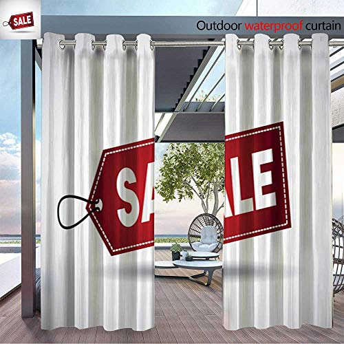 BlountDecor Outdoor Blackout Curtains 2016 09 06 1402 GST Outdoor Privacy Porch Curtains W84 x ()