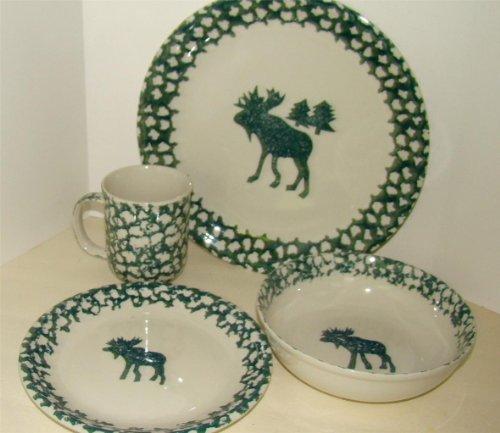 Tienshan Folkcraft Country Moose Dinner Plate