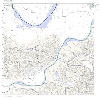 St Charles Zip Code Map.Amazon Com St Charles Mo Zip Code Map Laminated Home Kitchen
