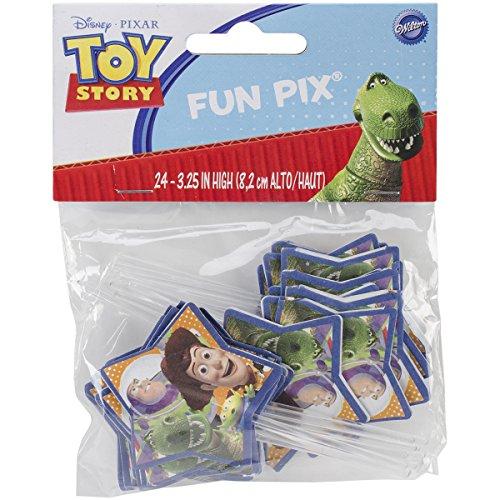 Wilton 2113-8081 Toy Story Fun Cupcake/Cake Fun Pix, 24-Pack]()