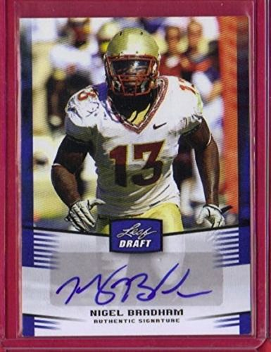 31aec638d 2012 Leaf Authentic Nigel Bradham Rookie Blue Autograph Card at ...