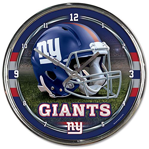 - NFL New York Giants Chrome Clock, 12