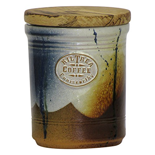 Handmade Coffee Storage Container Airtight Countertop Canister With Food  Grade Wood Lid And Seal To