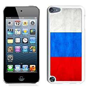 NEW Unique Custom Designed iPod Touch 5 Phone Case With Russia Flag_White Phone Case