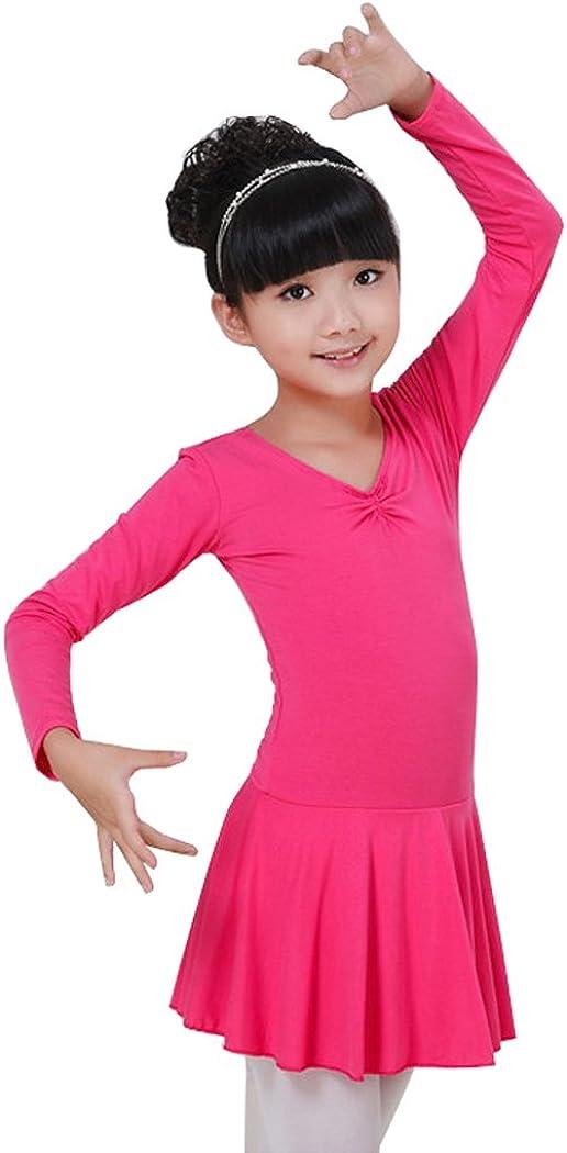 Wennikids Kids Girls Classic Dance Ballet Dress Long Sleeve Leotard