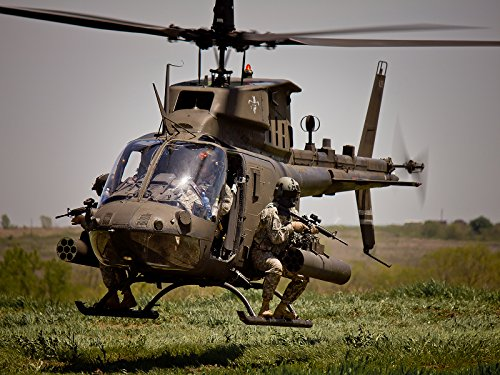 Army Poster Army Motivation Poster OH-58D Kiowa Warrior helicopter 18X24 -