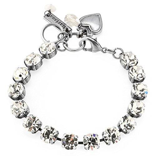 Mariana Clear Crystal Tennis Style Swarovski Crystal Bracelet 001001